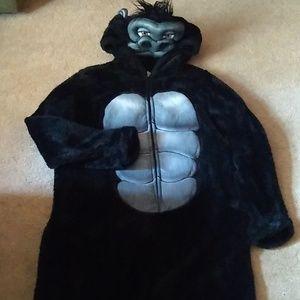 Halloween gorilla suit costume